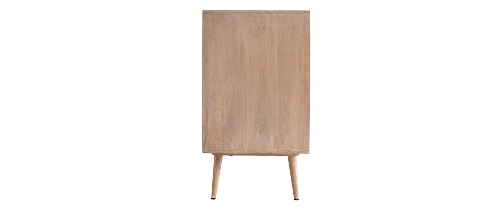Sideboard aus Mangoholz und Rohrgeflecht ACANGE