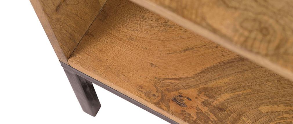Sideboard Industrie Stil Mangoholz Und Metall Ypster Miliboo