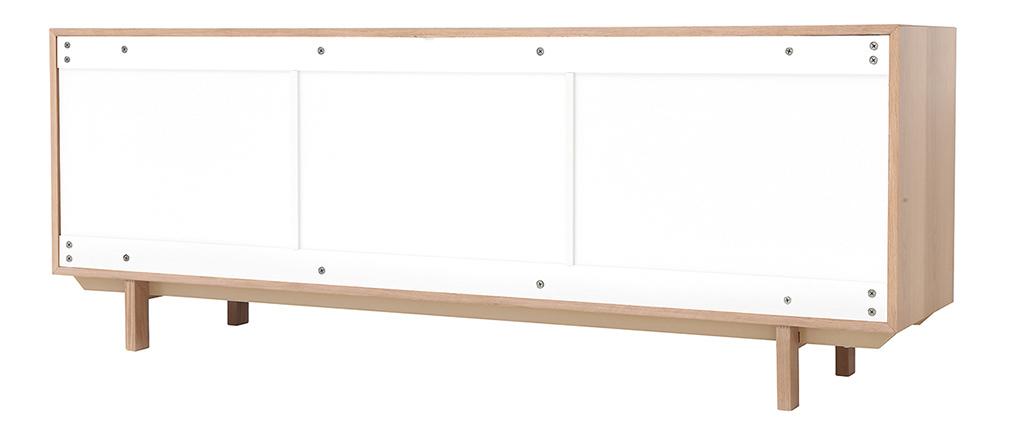 Sideboard skandinavisch Holz Weiß 195 cm SID