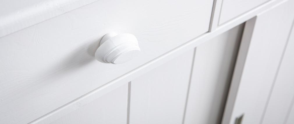 Sideboard Vitrinenschrank Kiefer Weiß BODRI
