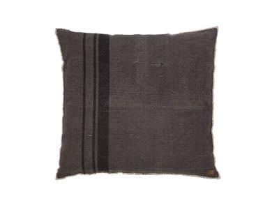 Sitzsack quadratisch Baumwolle Grau gestreift 100 x 100 cm RHODOS