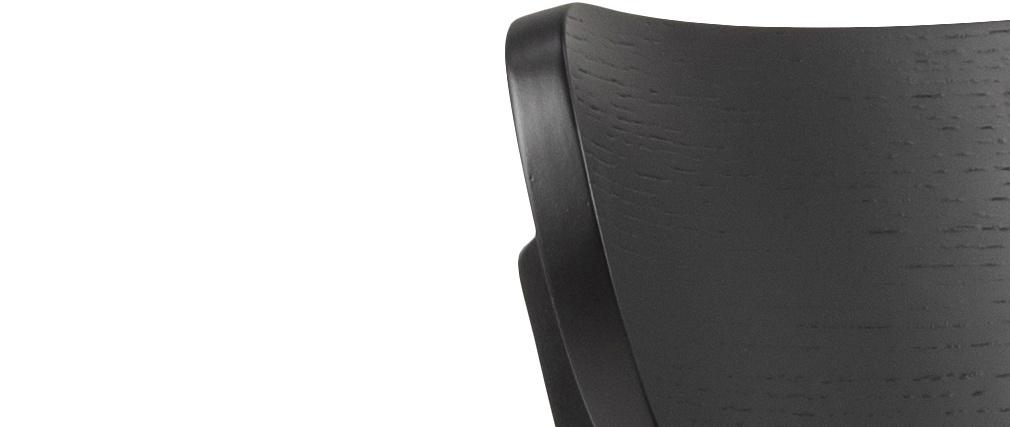 Skandinavische schwarze Holzstühle (2er-Satz) BAKI