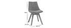 Skandinavische Stühle aus senfgelbem Stoff und Holz (2er-Set) MATILDE