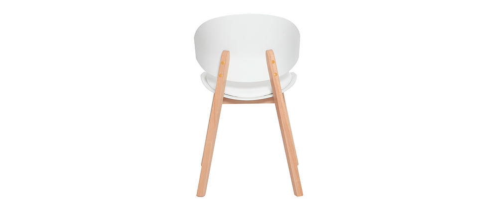 Skandinavische Stühle aus weißem und hellem Holz (2er-Set) BOLEM - Miliboo  1  Stéphane Plaza