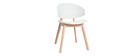 Skandinavische Stühle aus weißem und hellem Holz (2er-Set) BOLEM - Miliboo & Stéphane Plaza