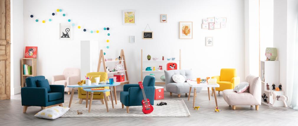 Skandinavischer Kinder-Sessel Meeresgrün NORKID