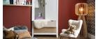 Skandinavischer Kleiderschrank mit Garderobe und Schubladen aus Holz weiß MOLENE
