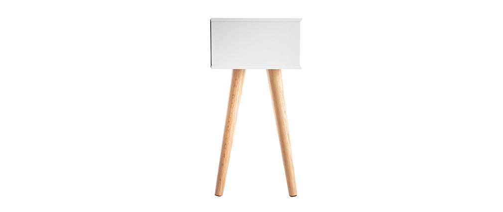 Skandinavischer Nachttisch Holz und Weiß SNOOP