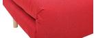 Skandinavischer Schlafsessel aus rotem Stoff AMIKO