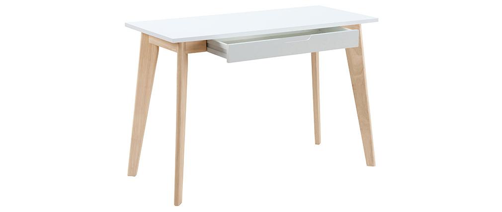 Skandinavischer Schreibtisch LEENA weißes Holz