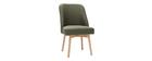 Skandinavischer Stuhl aus khakifarbenem Stoff LIV ? Miliboo & Stéphane Plaza