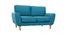 Skandinavisches 2-Sitzer-Sofa in enteblauem Stoff ALICE