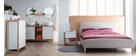 Skandinavisches Bett 160 x 200 cm Stoff Beige NIELS