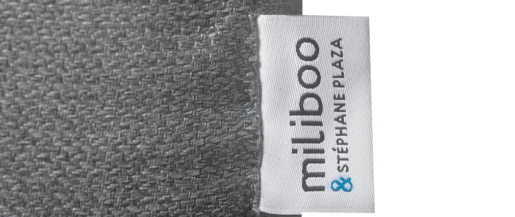 Skandinavisches graues 3-Sitzer-Sofa BEAUBOURG - Miliboo & Stéphane Plaza