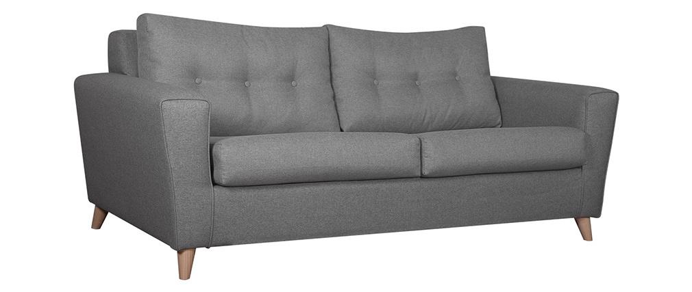 Skandinavisches graues und umwandelbares 3-Sitzer-Sofa BEAUBOURG - Miliboo |1| Stéphane Plaza