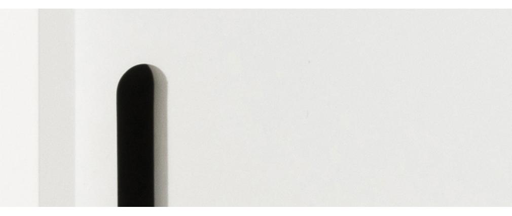 Skandinavisches Sideboard matt weiß mit Schiebetüren SNOOP