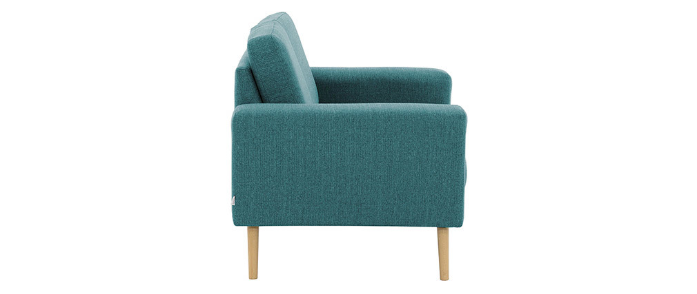 Skandinavisches Sofa 2-Sitzer aus blaugrünem Stoff MOCAZ ? Miliboo  1  Stéphane Plaza