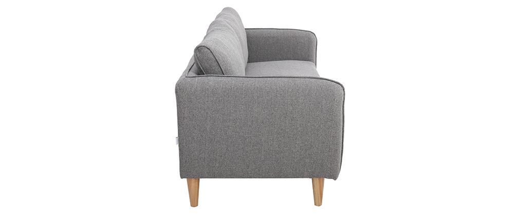 Skandinavisches Sofa 3-Sitzer Hellgrau KURT ? Miliboo |1| Stéphane Plaza