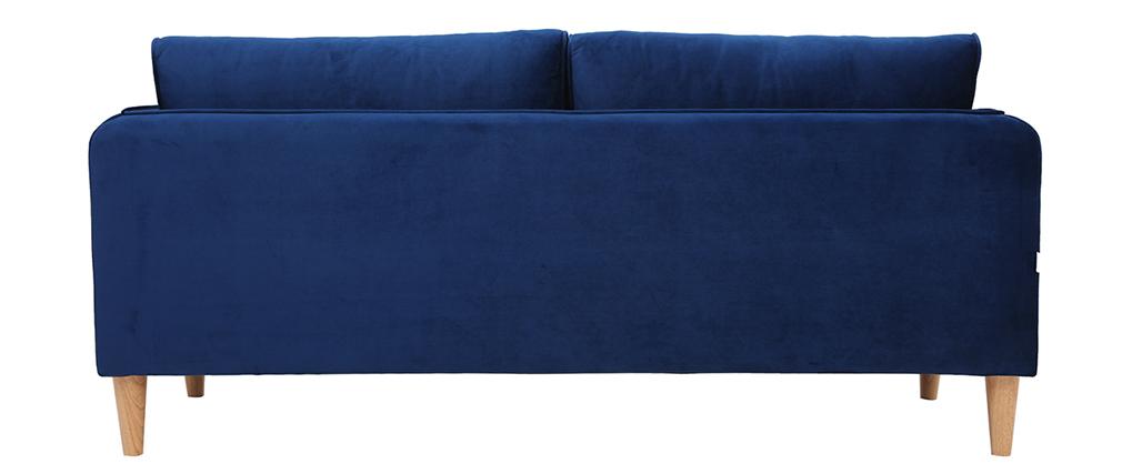 Skandinavisches Sofa 3-Sitzer Velours Blau KURT ? Miliboo |1| Stéphane Plaza