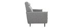 Sofa 3-Sitzer hellgrauer Stoff HIBA