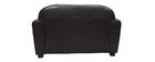 Sofa Club aus dunkelbraunem Leder mit 2 Sitzplätzen - Rindsleder