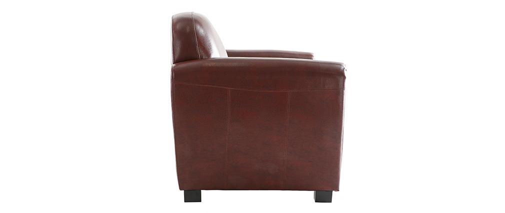 Sofa Club aus hellbraunem Leder mit 2 Sitzplätzen - Büffelleder