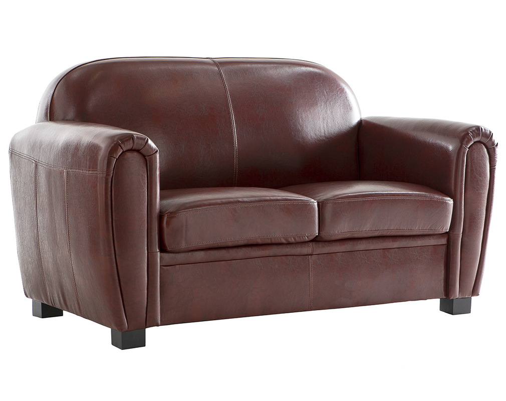 Sofa Club Aus Hellbraunem Leder Mit 2 Sitzplätzen