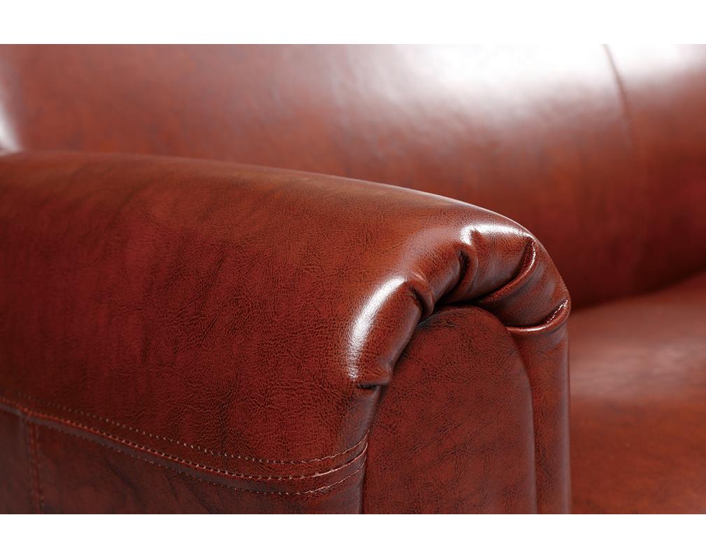 Sofa Club Aus Hellbraunem Leder Mit 3 Sitzplätzen