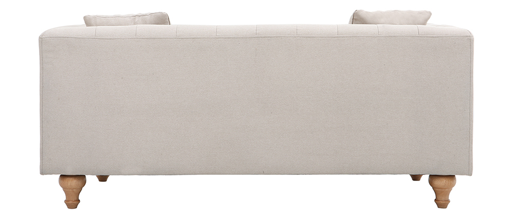 Sofa klassisch Stoff 2-Sitzer Naturfarben MONTAIGNE