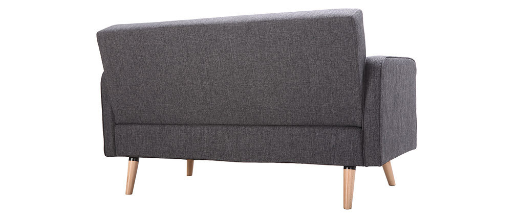 Sofa skandinavisch 2 Plätze Dunkelgrau ULLA