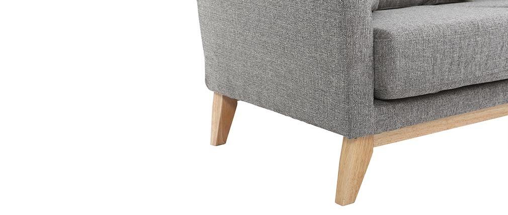 sofa skandinavisch 2 pl tze hellgrau helle holzbeine oslo. Black Bedroom Furniture Sets. Home Design Ideas