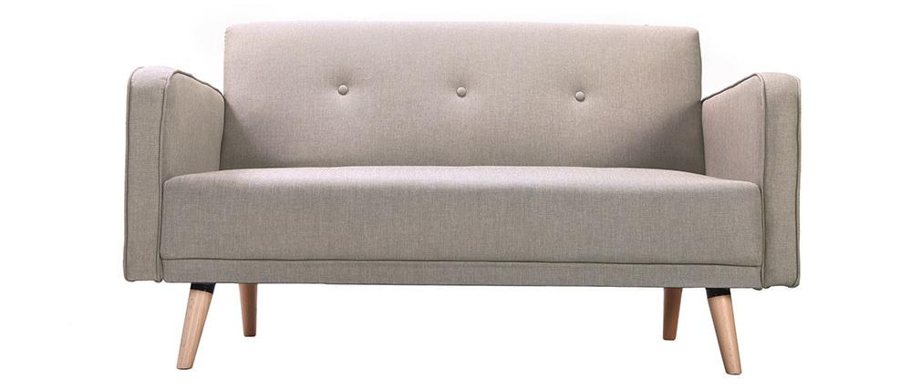 Sofa skandinavisch 2 Plätze Hellgrau ULLA