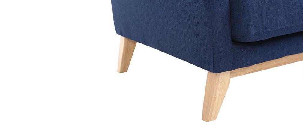Sofa skandinavisch 3 pl tze dunkelblau holzbeine oslo for Schreibtischstuhl skandinavisch