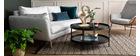 Sofa skandinavisch 3 Plätze hellgrau-meliert CREEP