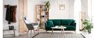 Sofa skandinavisch 3 Plätze Velours midnight green Holzbeine OSLO
