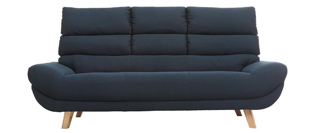 Sofa skandinavisches Design 3 Plätze Blau NORDIK