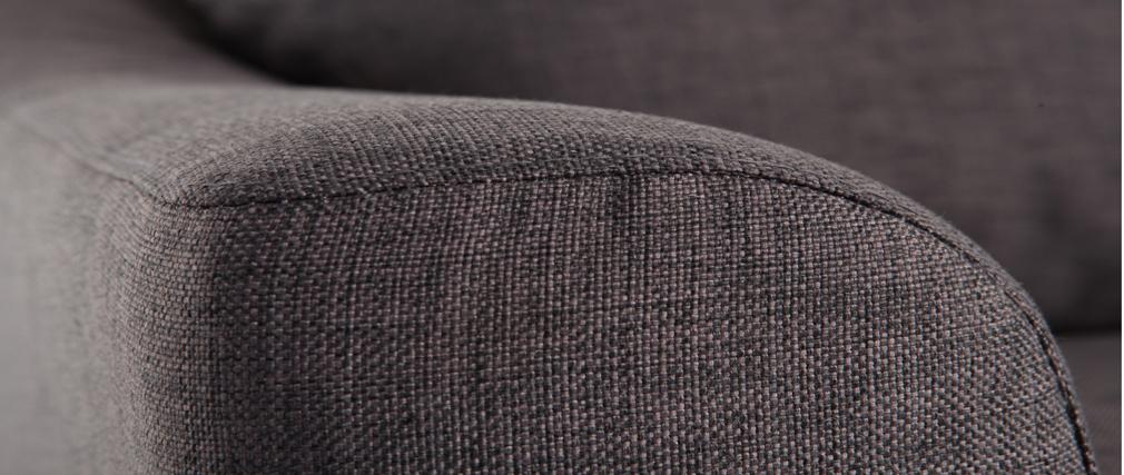 Sofa Verstellbar 3 Plätze Grau JERSEY