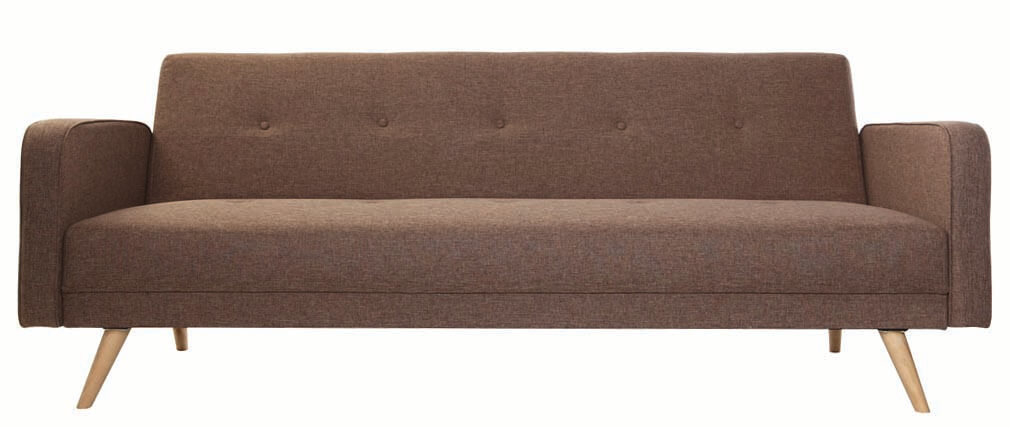 sofa verstellbar 3 pl tze skandinavisches design beige. Black Bedroom Furniture Sets. Home Design Ideas