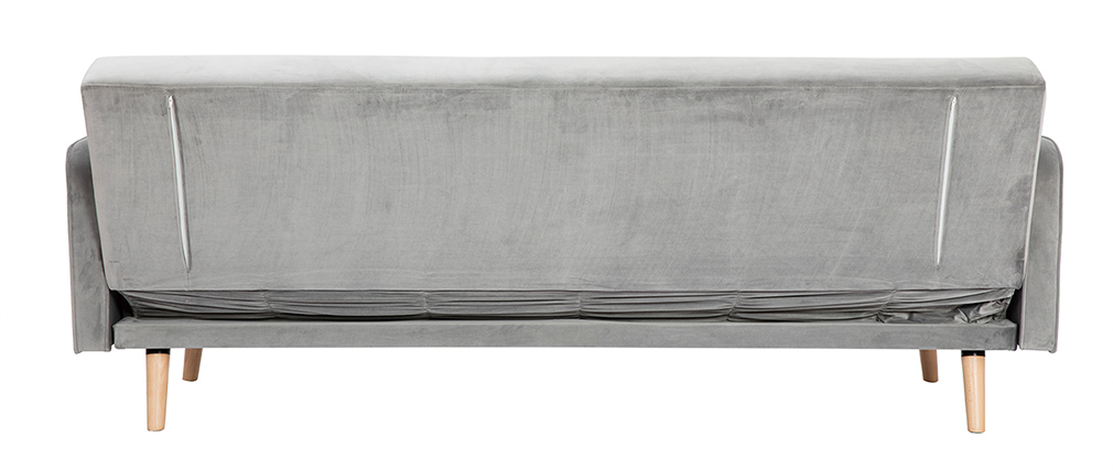 Sofa verstellbar 3 Plätze skandinavisches Design Grau ULLA