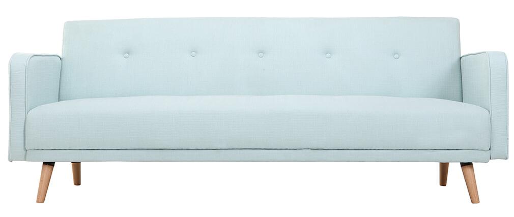Sofa verstellbar 3 Plätze skandinavisches Design Grün ULLA