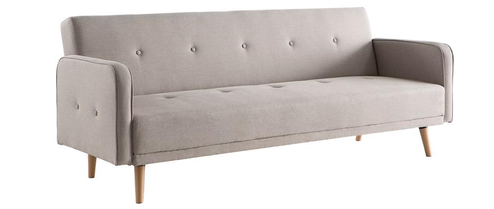 Sofa verstellbar 3 Plätze skandinavisches Design Naturfarben ULLA