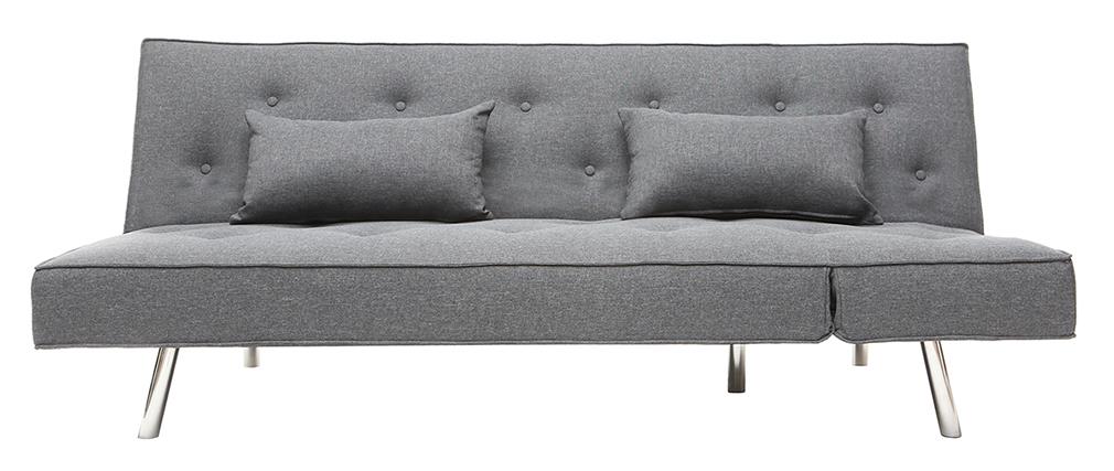 Sofa verstellbar aus Stoff Dunkelgrau LEONARD