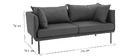 Sofa zeitgenössisches Design 3 Plätze Blaugrün MATHIS