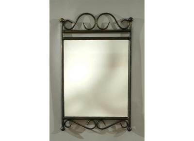 Spiegel aus Stahl im schmiedeeisernen Stil FLORENCE