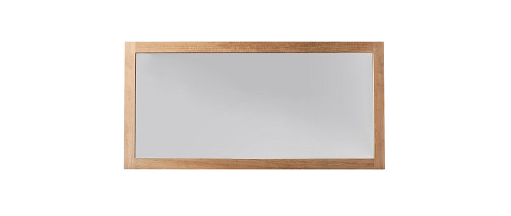 Spiegel Badezimmer aus Teakholz 140 x 70 cm SANA