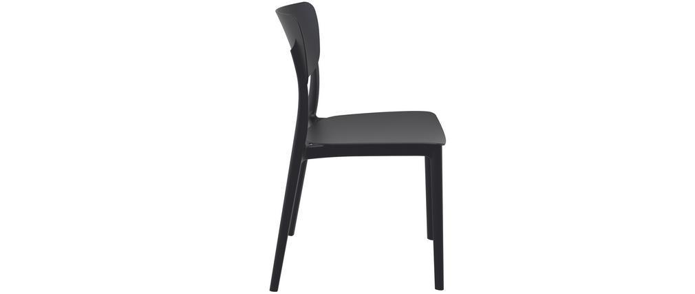 Stapelbare Stühle schwarz innen / außen (4er Set) COBB