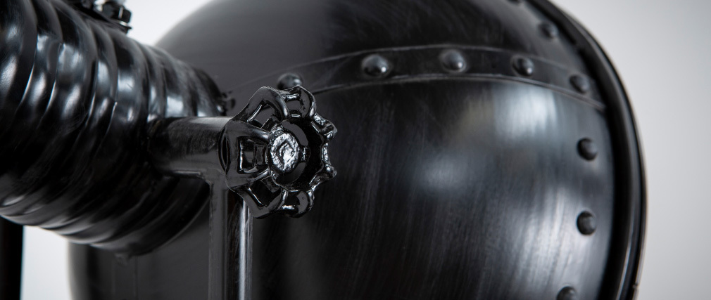 Stehlampe Metall Schwarz industrieller Look FACTORY