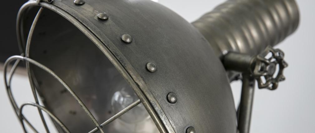 Stehlampe Metall Schwarz industrieller Used-Look FACTORY