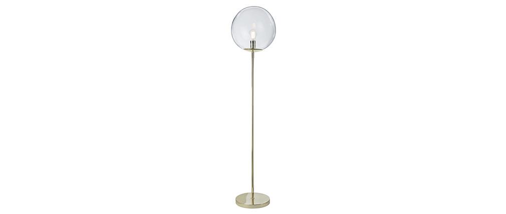Stehlampe mit Fuß aus goldfarbenem Metall und Glas SOAP