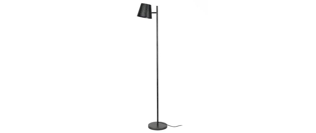 Stehlampe mit verstellbarem Lampenschirm aus Metall in Altsilber-Optik BELL